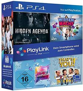 PlayLink Bundle (Wissen ist Macht, Hidden Agenda, SingStar Celebration & That's You!) für 34,99€