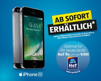 iPhone SE (silber oder schwarz, 32 GB Speicher) für 299 Euro bei Hofer