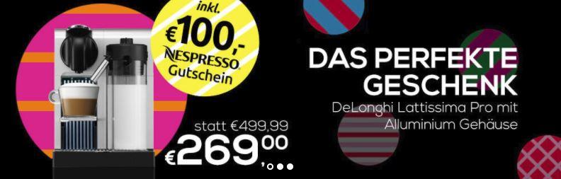 Nespresso Lattissima Pro zum absoluten Bestpreis (+100,- € Kapselguthaben geschenkt!)