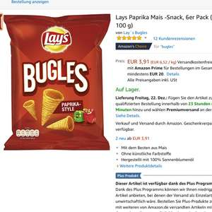 Amazon  Lay's Bugles Chips Paprika