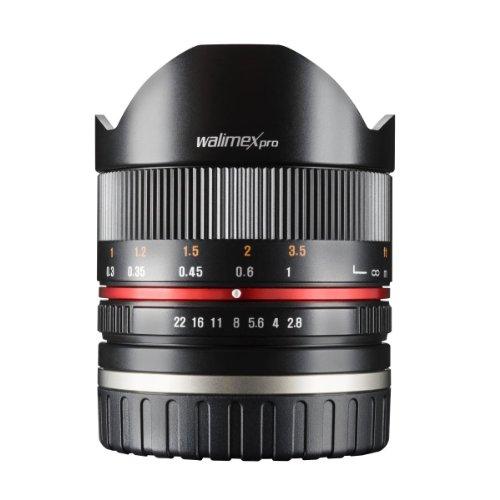 Walimex Pro 8 mm 1:2,8 Fish-Eye II CSC-Objektiv (für Fuji X Objektivbajonett, manueller Fokus, inkl. Schutzdeckel und Objktivbeutel)