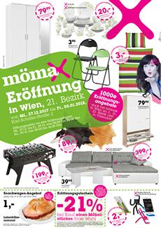 [mömax] Neueröffnung in Wien 21. - ab 27.12.2017 bei der SCN