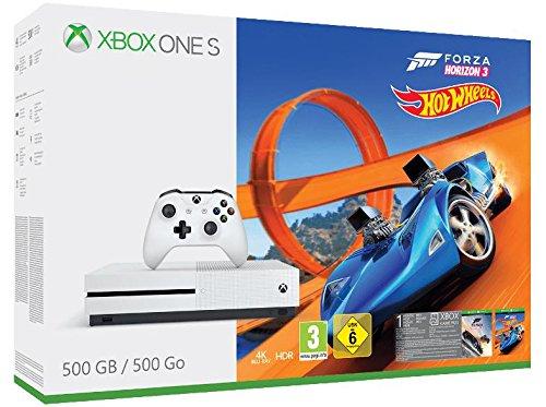 Xbox One S 500GB Konsole + Mittelerde: Schatten des Krieges oder Forza Horizon 3 + Hot Wheels DLC