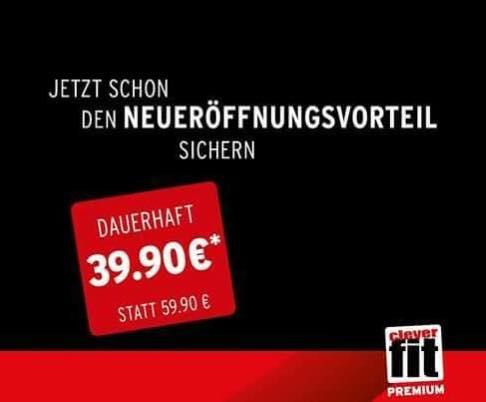 """Clever fit Wien Mariahilfer Straße - """"Eröffnungsangebot"""" - 39,90€ statt 59,90€/ Monat"""