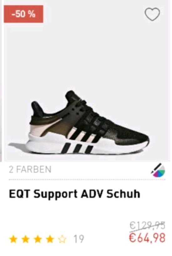 ADIDAS EQT Schuhe 50%