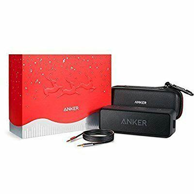 Anker SoundCore 2 Bluetooth Lautsprecher mit Premium Schutztasche und 1,2 M Audio Klinkenkabel