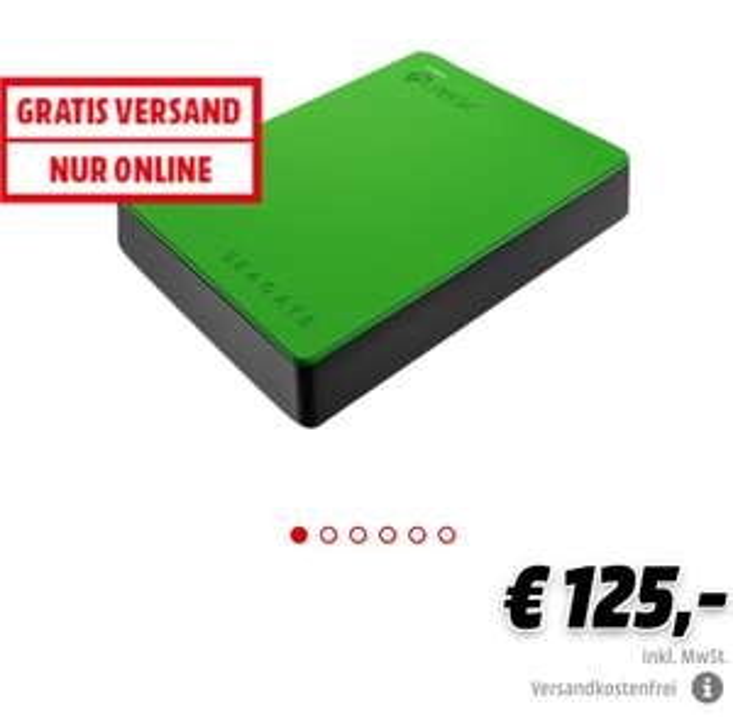 SEAGATE Festplatte 4TB USB 3.0, grün (STEA4000402)