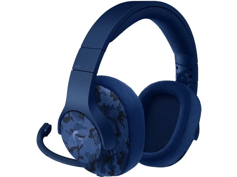 LOGITECH Gaming Headset G433, blau (981-000688)+ Call of Duty WWII für PS4 / Xbox One / PC