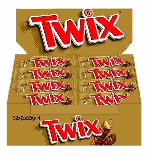 Twix, 1 Packung mit 32 Riegeln (32 x 50 g) - minus 43%