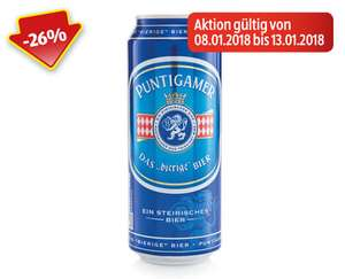 [Hofer]  PUNTIGAMER Märzenbier € 0,66.- ab 08.01 - 13.01.18