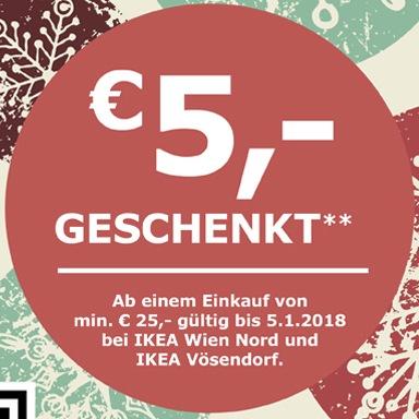 Ikea: -5€ bei 25€ MBW + gratis Kindermenü