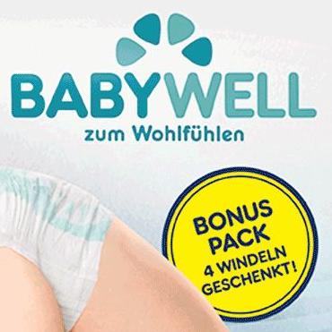 BIPA: Babywell Windeln Gr.4/5 mit 4 gratis Windeln
