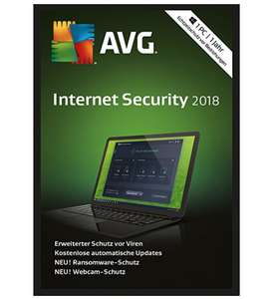SoS: AVG Internet Security 2018, 1 Jahr gratis statt 19,99€ (PC)