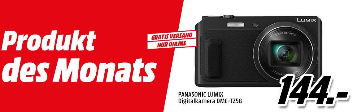 [Mediamarkt.at] PANASONIC LUMIX Digitalkamera DMC-TZ58 für €144,0 - versandkostenfrei!
