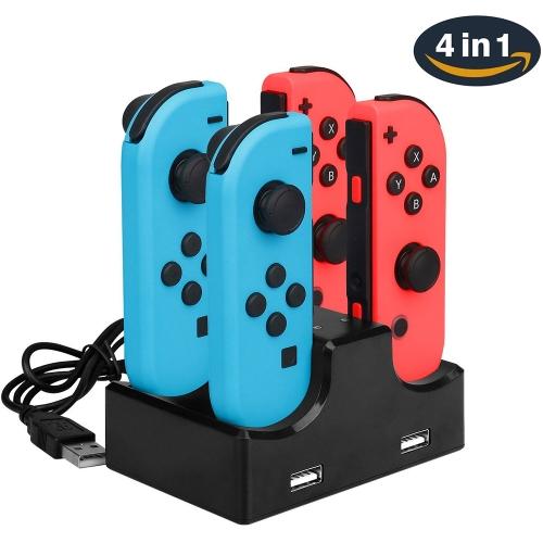 [TomTop] 4 in 1 Charging Dock für Nintendo Switch Joy-Con inkl. 2 USB Ports für 6,87€