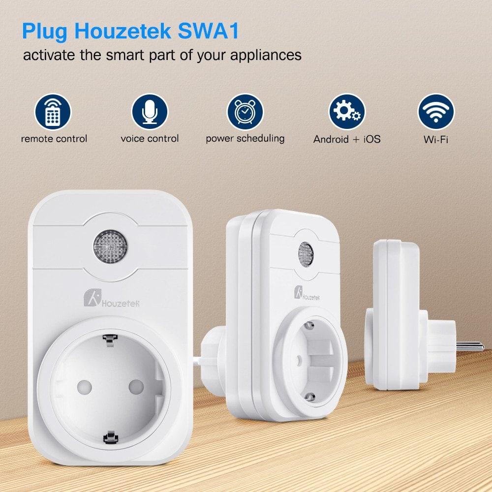 Houzetek SWA1 - Smarte Steckdose zum günstigen Preis - Kompatibel mit Alexa