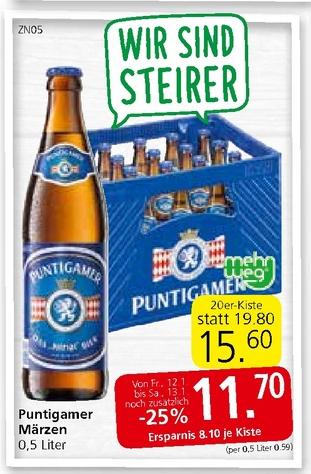 Bier bei SPAR im Angebot 2x -25%
