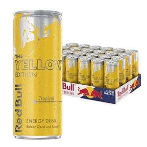 "24x Red Bull ""Yellow Edition Tropical"" um 19 € - (0,79 €/Dose) // alternativ auch ""Silver Edition Limette"" um 21 €"