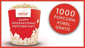 Cineplexx: Popcorn Day, gratis Popcorn nur am 19.01.2018