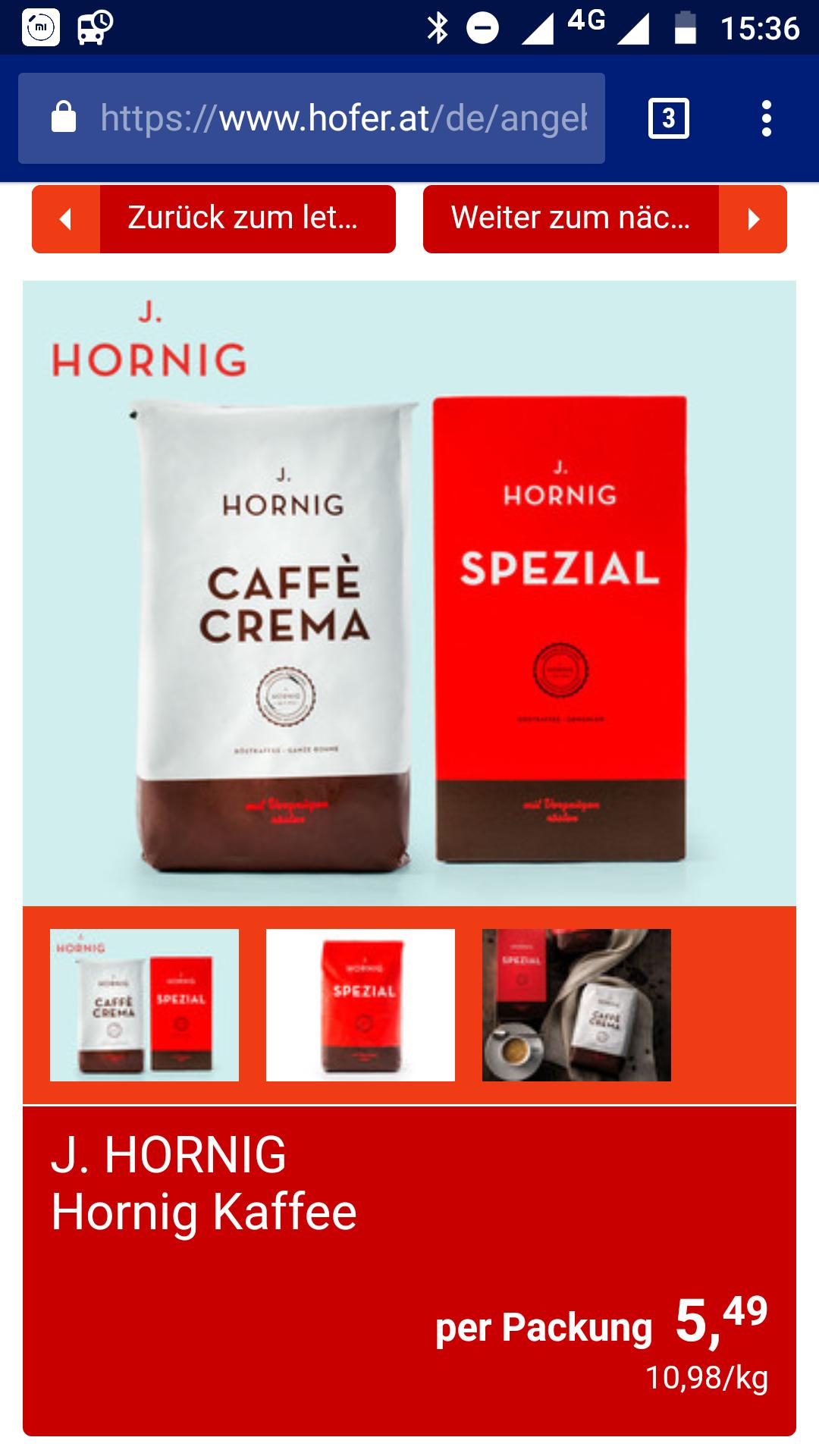 J. Hornig Spezial oder Crema