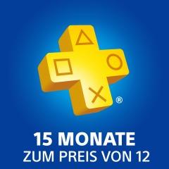15 Monate PlayStation Plus zum Preis von 12