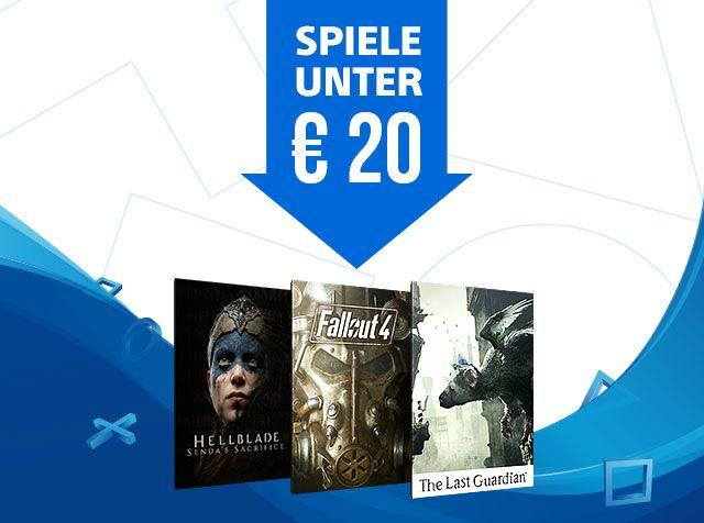 Angebote im PlayStation™Store - Spiele unter 20€