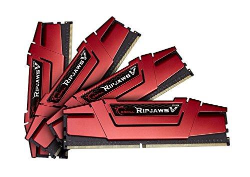 Amazon.FR: G.Skill RipJaws V rot DIMM Kit 32GB, DDR4-3000, CL15-15-15-35 für 206,31€