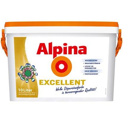 Alpina Excellent Weiß 10 L nur 39,99 €