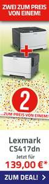 Zwei LEXMARK CS417dn Farblaser-Drucker