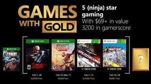 (Games with Gold Februar) Shadow Warrior (Xbox One) Assassin's Creed Chronicles: India (Xbox One) Split/Second (Xbox One/Xbox 360) Crazy Taxi (Xbox One/Xbox 360)