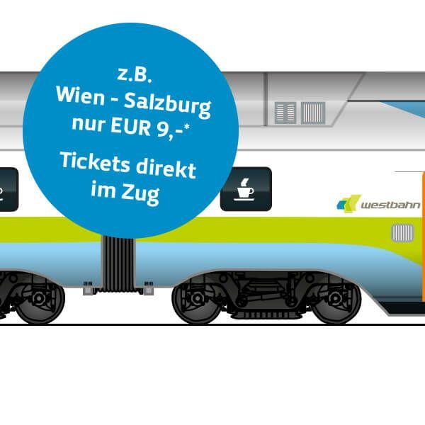 Westbahn Testwochen jedes Ticket 9€ - nur mit Bahnkarte