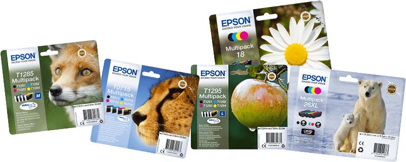 30€ Cash-Back beim Kauf von 2 Epson Tintenbundle