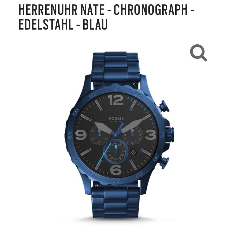 [Fossil] Nate Chronograph Edelstahl Blau um €79,20 / JR1530P
