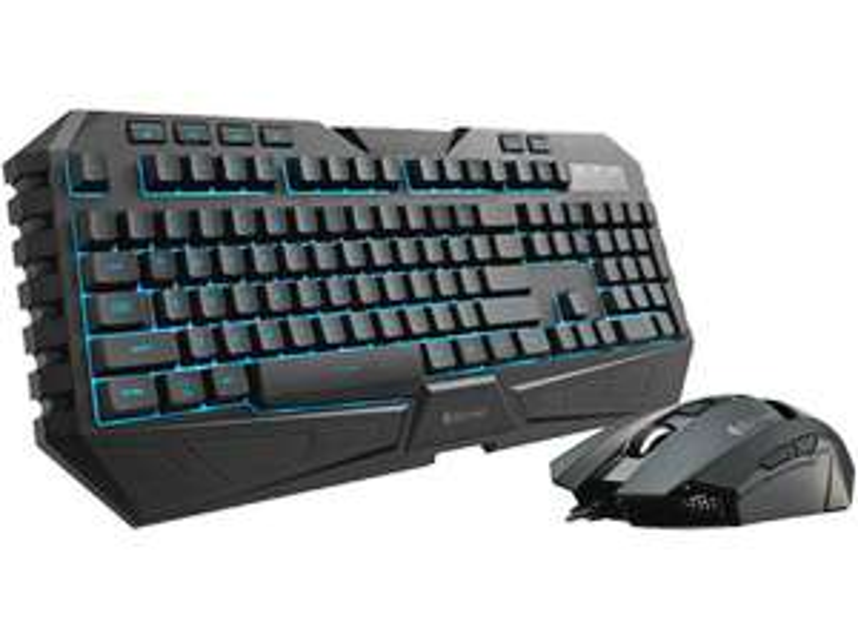 Coolermaster SGB-3020-KKMF1-DE Octane Combo Tastatur und Maus (7 LED Farben) für 33,33€