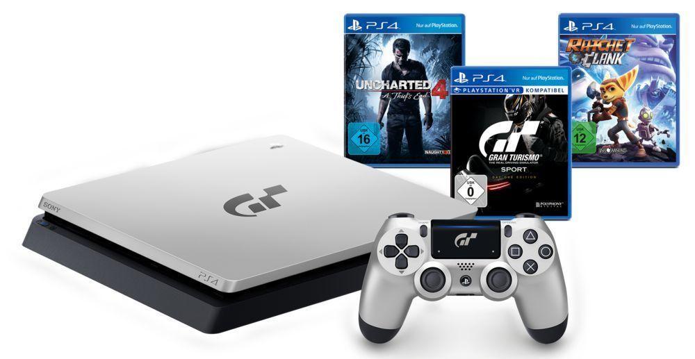 MEDION auf Ebay.de SONY PlayStation 4 Limited Edition 1TB inkl.Spiel GT Sport plus 3 weitere Spiele