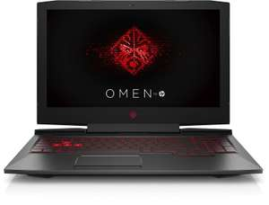 HP Omen 15-ce012ng 15,6 Zoll Laptop (Intel Core i7-7700HQ, 8 GB RAM, 1 TB HDD, 128 GB SSD, NVIDIA GeForce GTX 1050, FreeDOS 2.0) + LogoiX