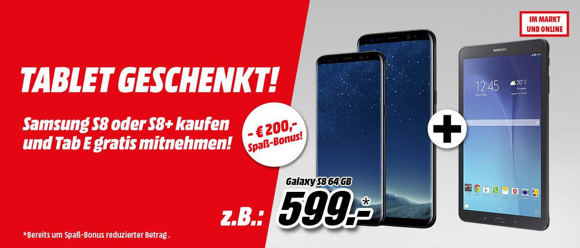 Samsung Galaxy S8 oder S8+ kaufen und Tab E gratis dazu erhalten!