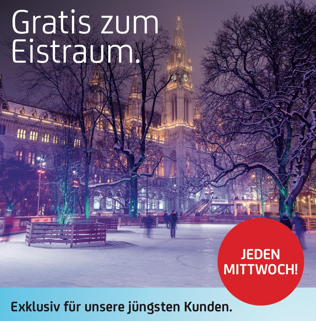Bank Austria: GRATIS Eintritt zum Wiener Eistraum (+ Begleitung) - jeden Mittwoch