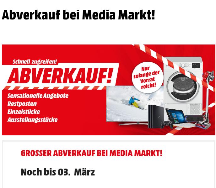 Abverkauf bei Mediamarkt