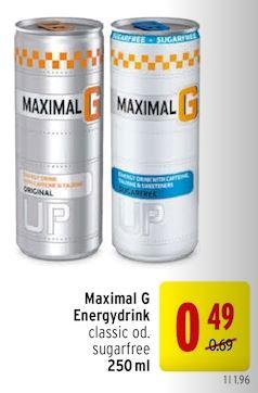 Merkur Maximal G Energydrink Classic oder Sugarfree bis 7.2.