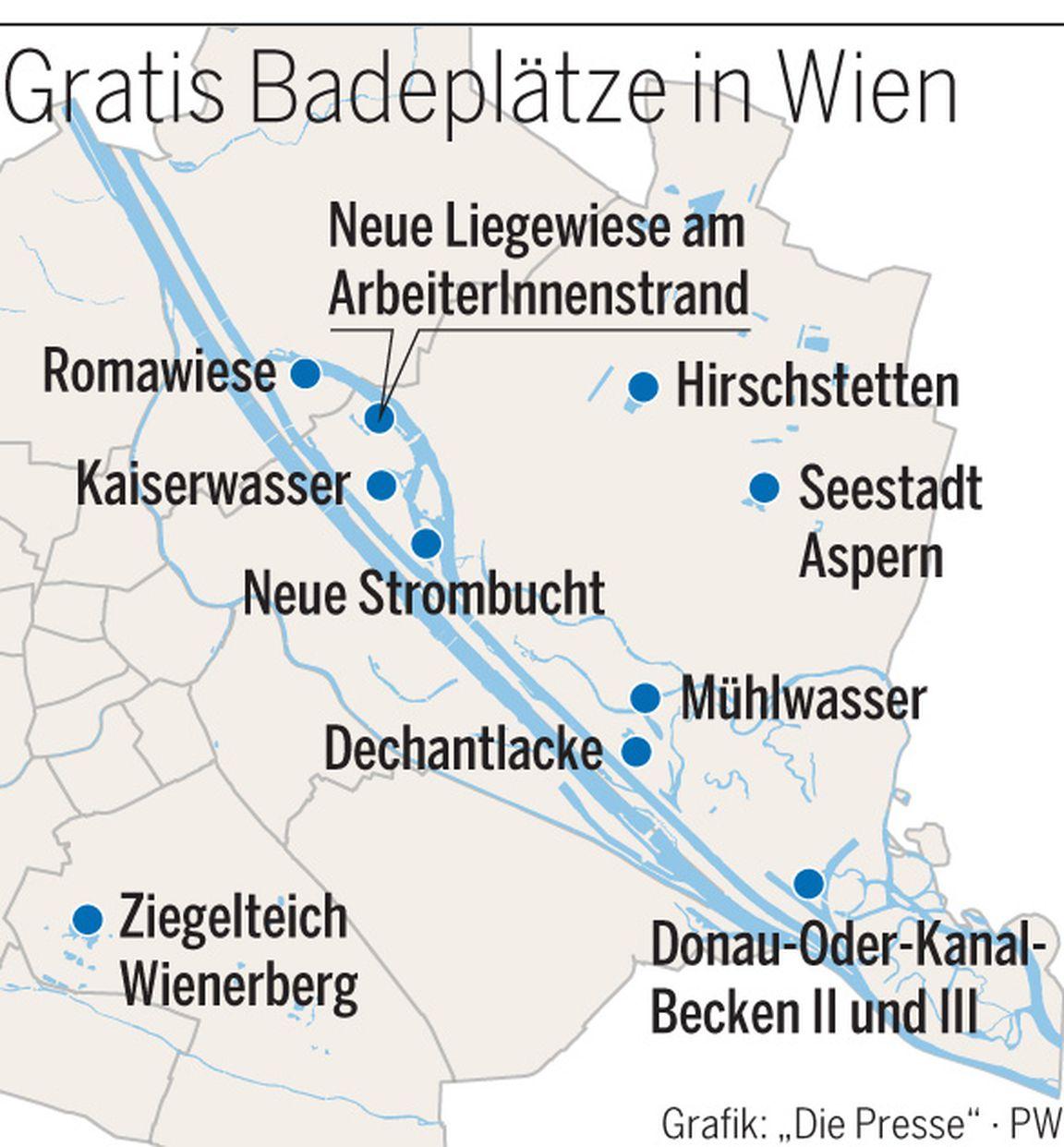 (Sommer 2018) - Top GRATIS Badeplätze in Wien