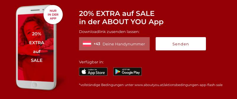20% extra Rabatt auf SALE Artikel - bei Bestellung über die App