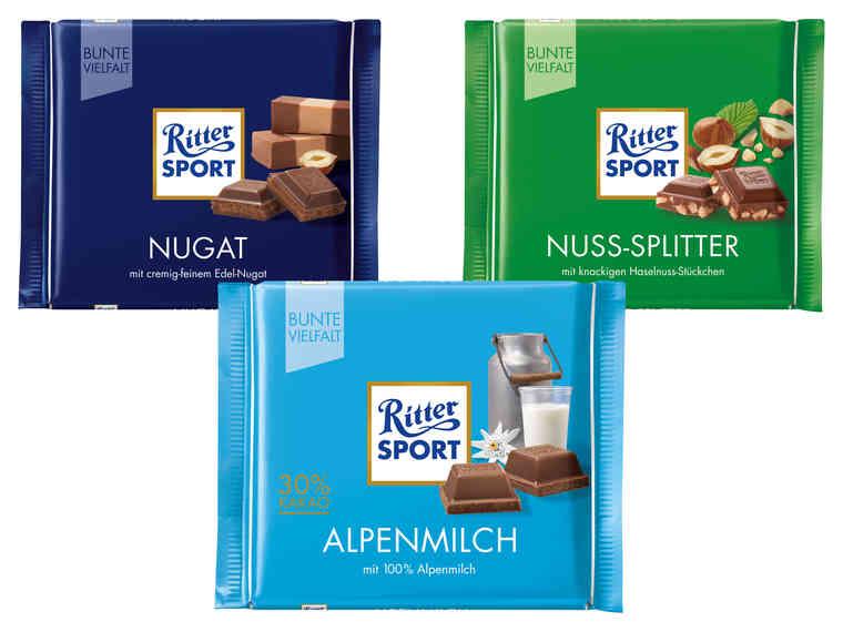 LIDL RITTER SPORT Tafelschokolade 12 Sorten 8.2. bis 10.2.