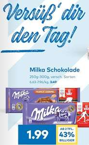 T&G Milka Schokolade 300g div. Sorten ab 2 Pkg.