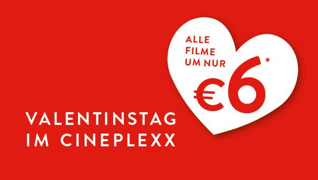 Cineplexx: alle Filme 6€* nur am 14.02.2018