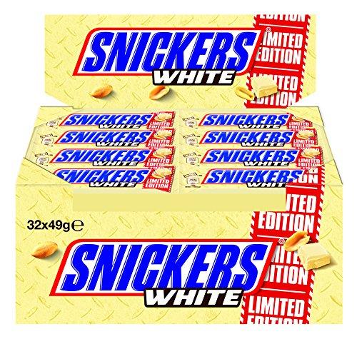 Amazon.de: 32x Snickers White um 9,99€ oder im Spar Abo um 9,49€