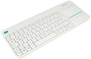 [AMAZON PRIME] Logitech K400 Plus Touch Wireless Tastatur weiß (QWERTZ, deutsches Tastaturlayout)