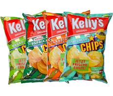 9.2. und 10.2. EURO-/INTER-/SPAR: Kelly's Chips ab 3 Packungen à 175g je Packung 0,99€ (per Kilo 5,66€)