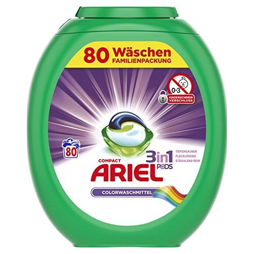 [www.AMAZON.de] Ariel 3 in 1 Pods Colorwaschmittel, 1er Pack (1 x 80 Waschladungen)