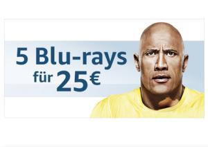 5 Blu Rays für €25 bei Amazon